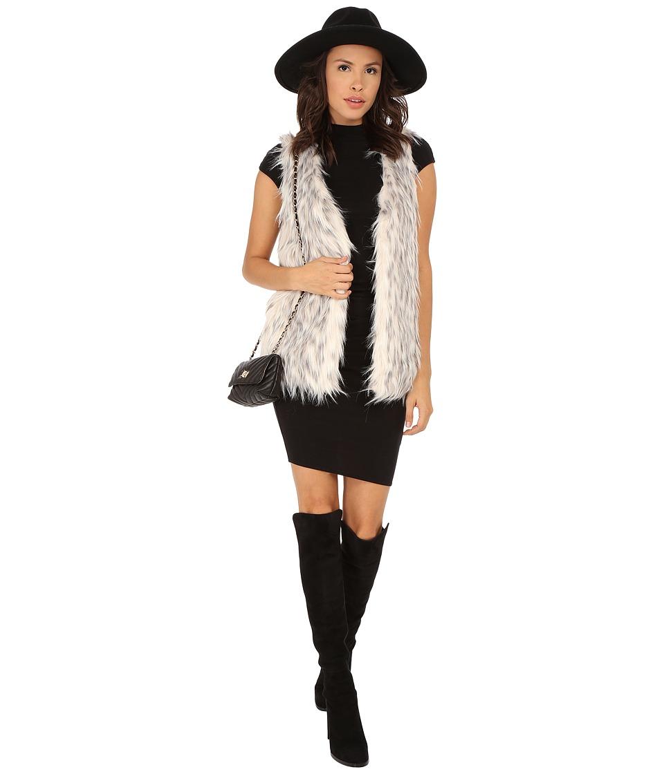 kensie - Spotted Fur Vest KS0K2160 (Pearl Combo) Women's Vest
