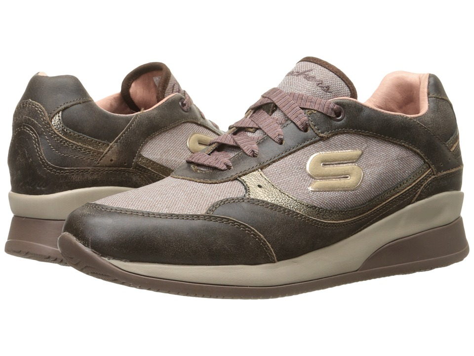 SKECHERS - Vita - Luca (Light Brown) Women's Lace up casual Shoes