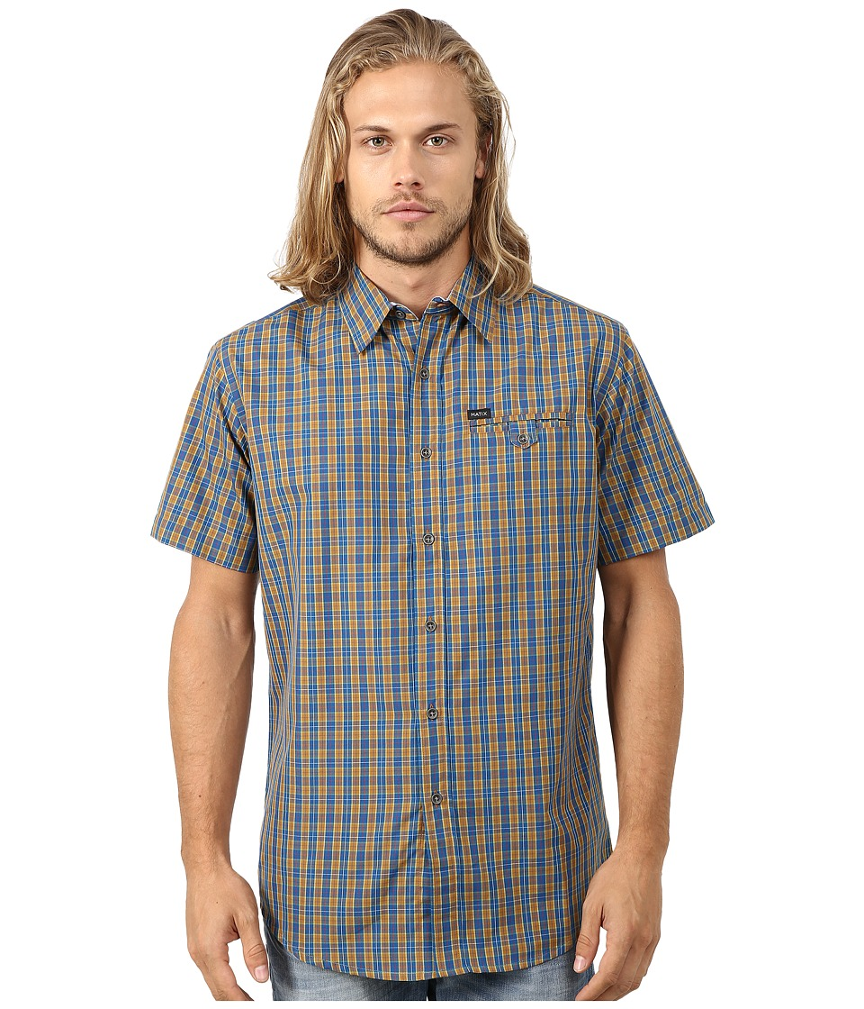 Matix Clothing Company - Simian Woven Top (Burnt Orange) Men's Short Sleeve Button Up