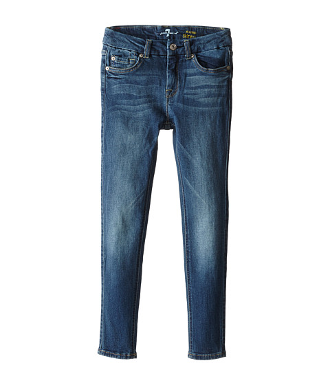 7 For All Mankind Kids - Ankle Skinny in Heritage Medium Dark (Big Kids) (Heritage Medium Dark) Girl's Jeans