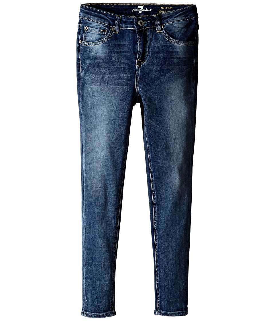 7 For All Mankind Kids - Ankle Skinny in Dusty Vintage Blue (Big Kids) (Dusty Vintage Blue) Girl