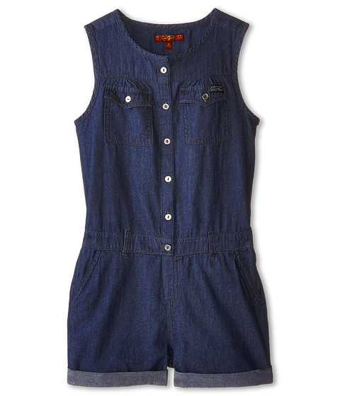 7 For All Mankind Kids - Denim Romper in Absolute Heritage (Big Kids) (Absolute Heritage) Girl's Jumpsuit & Rompers One Piece