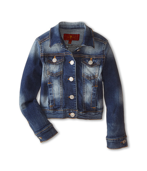 7 For All Mankind Kids - Denim Jacket (Little Kids) (Absolute Heritage) Girl's Coat