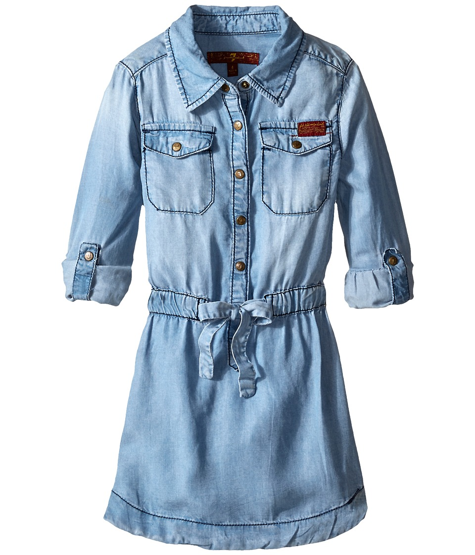 7 For All Mankind Kids - Denim Dress (Little Kids) (Chambray 2) Girl