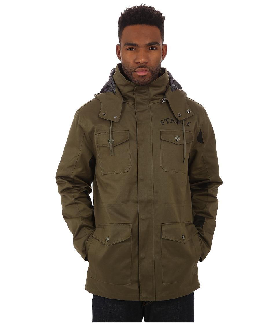 Staple - Operator Jacket (Olive) Men's Coat