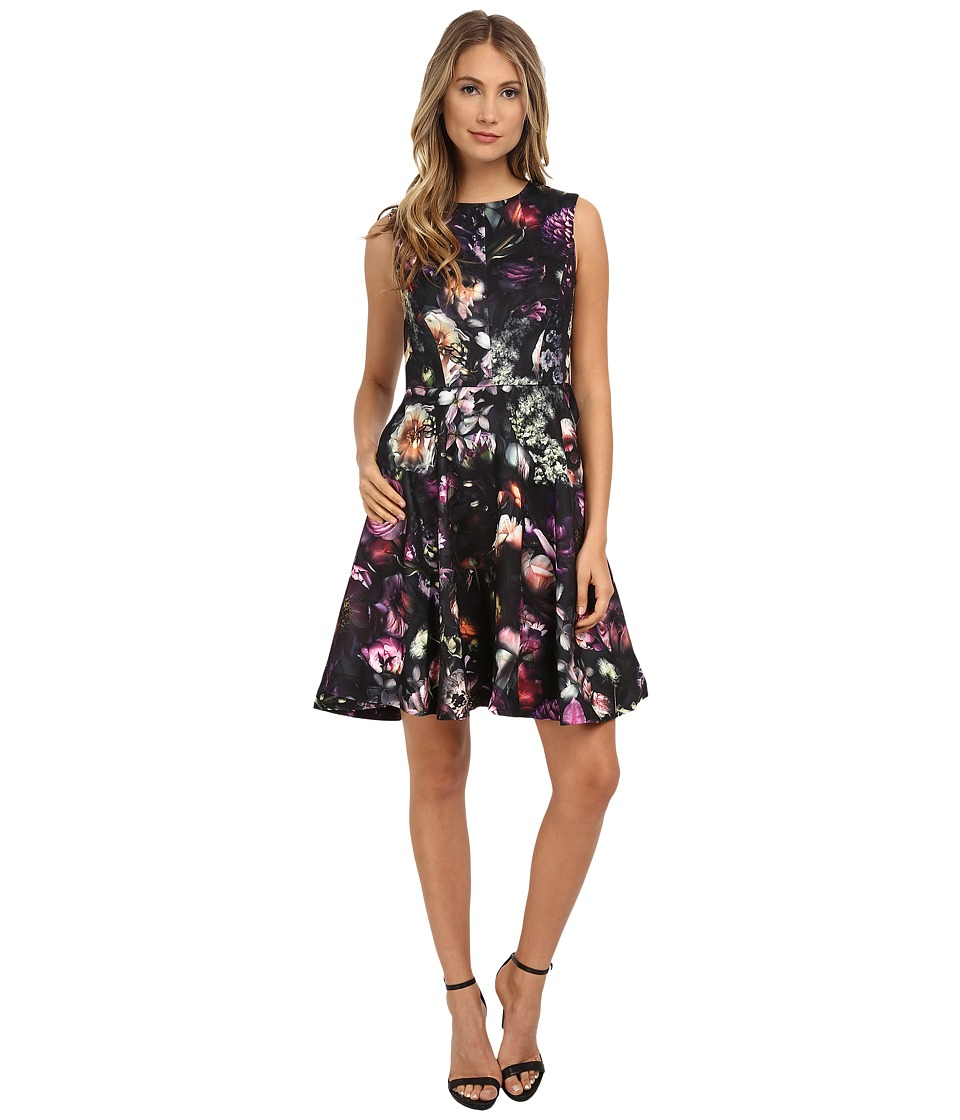 Ted Baker - High Neck Shadow Flora Dress (Mid Grey) Women's Dress