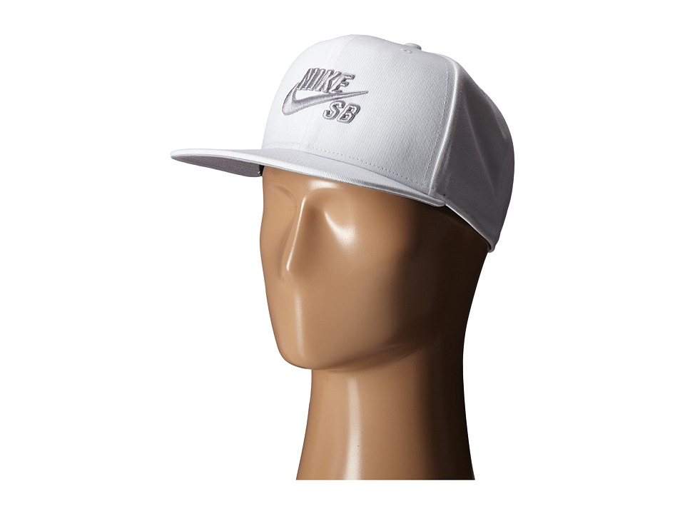 Nike SB - Icon Snapback (White/Wolf Grey/Black/Wolf Grey) Caps