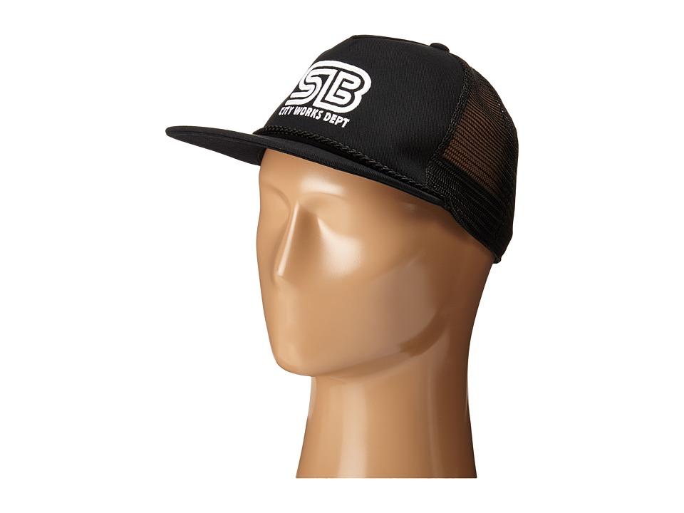 Nike SB - SB Works Trucker (Black/Black/Black/White) Beanies