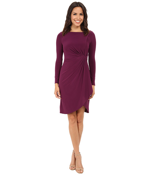 Adrianna Papell - Side Draped Jersey Dress (Wine) Women's Dress