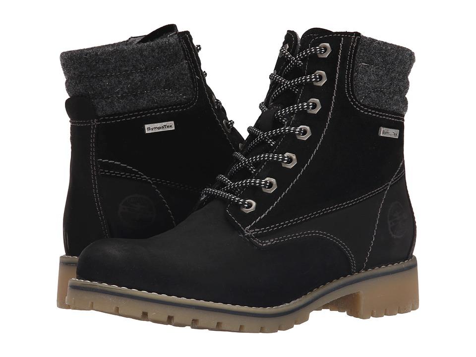 Tamaris - Catser 1-1-25250-25 (Black Combo) Women's Lace-up Boots