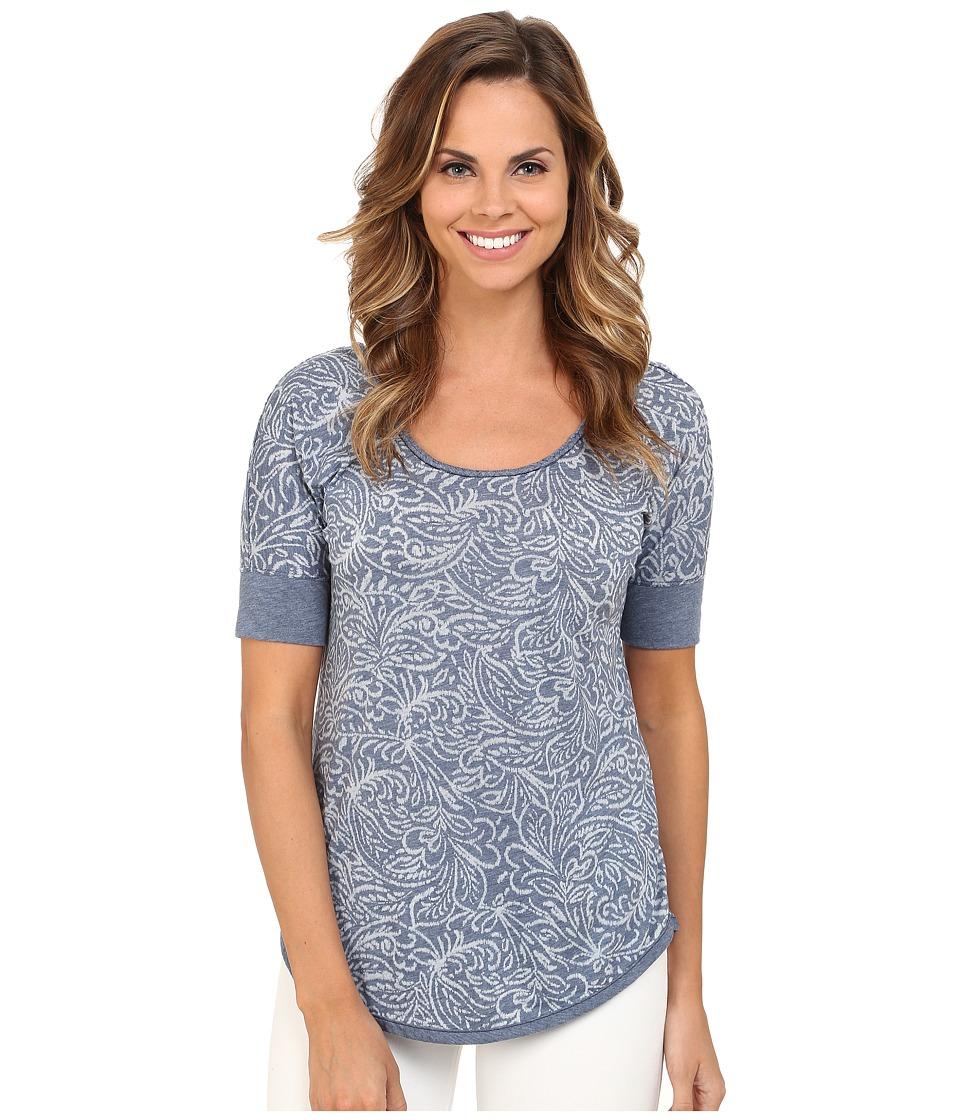 Mod-o-doc - Burnout Jersey Braided Trim Scoopneck (New Navy) Women's T Shirt