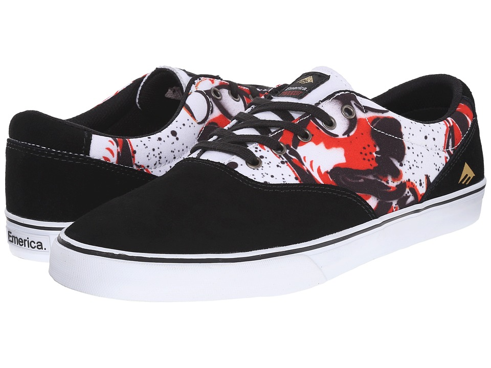 Emerica - Provost Slim Vulc X Mouse (Black/Print) Men's Skate Shoes
