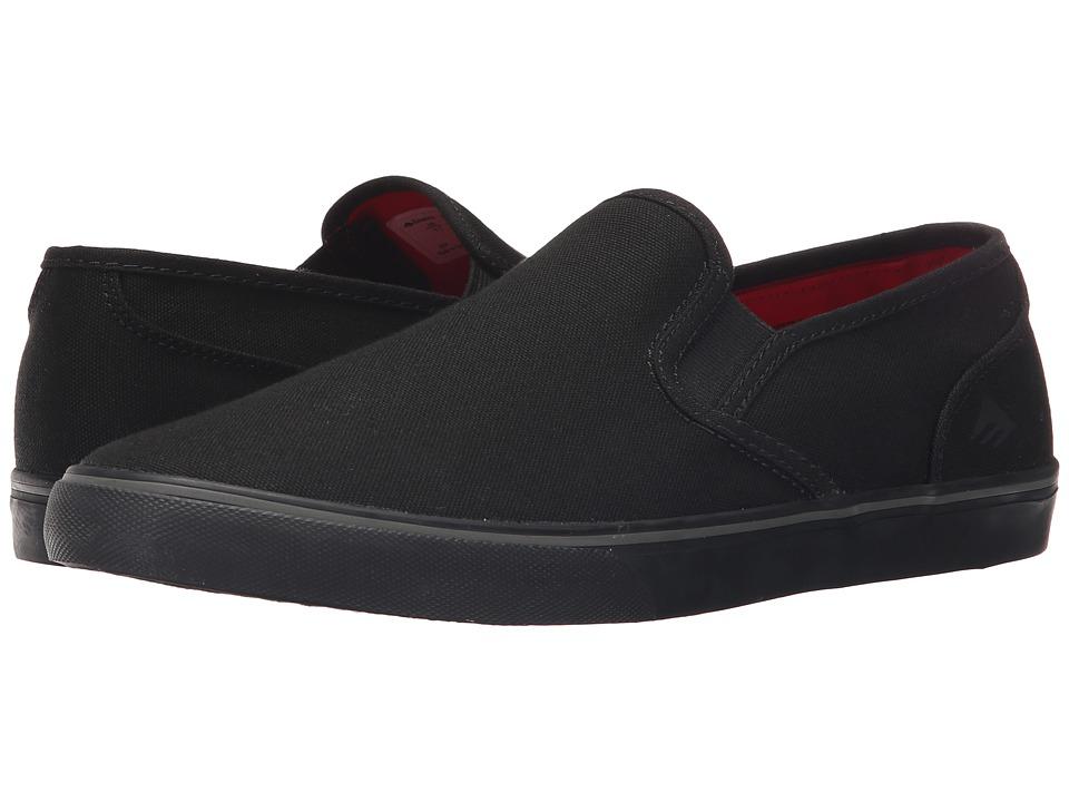 Emerica - Provost Cruiser Slip (Black/Black) Men's Skate Shoes