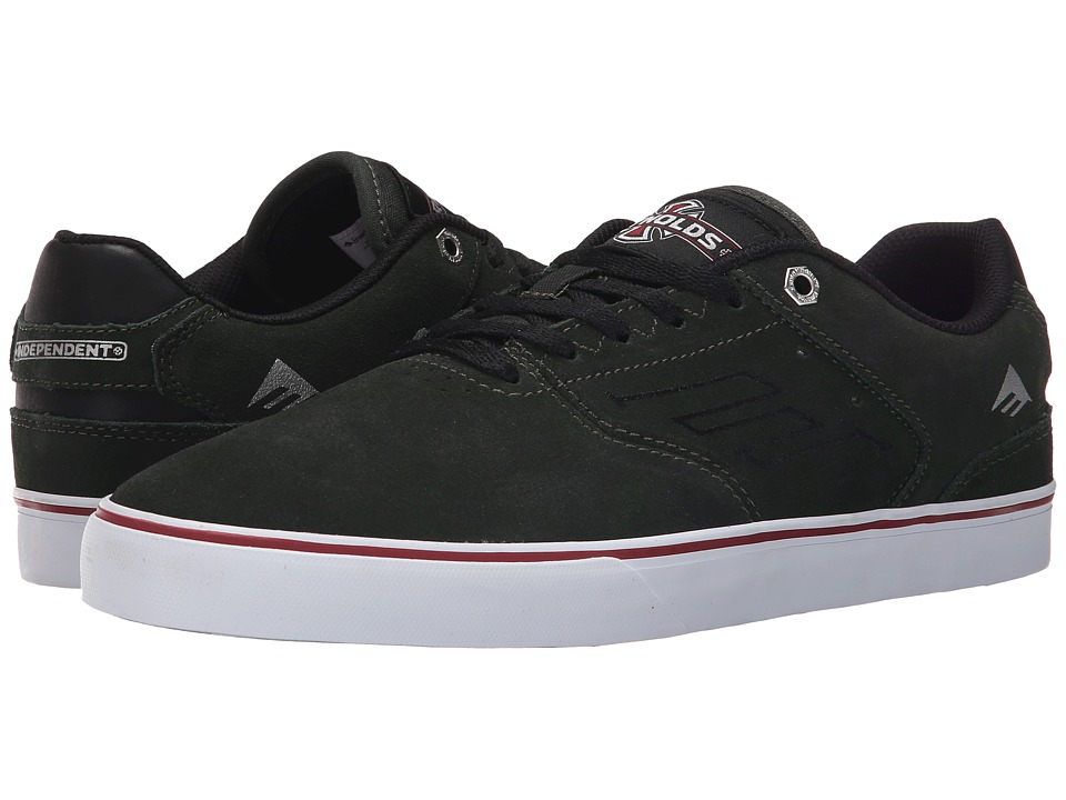 Emerica - The Reynolds Low Vulc X Indy (Dark Green) Men's Skate Shoes