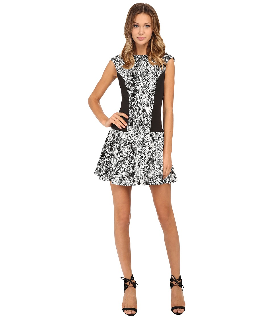 Ted Baker - Snake Jacquard Jersey Dress (Black) Women's Dress