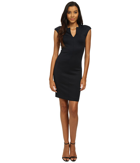 Ted Baker - Notch Neck Bodycon Dress (Navy) Women's Dress