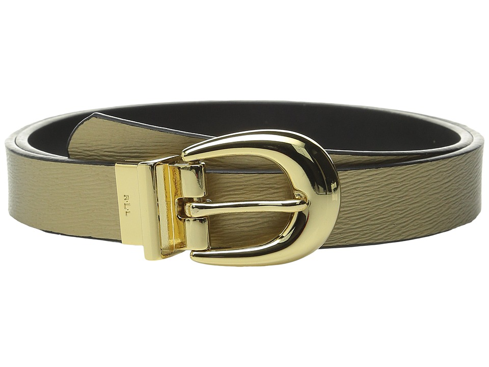 LAUREN Ralph Lauren - Classics 1 Saffiano/Smooth Reversible (Gold Rush/Black) Women's Belts