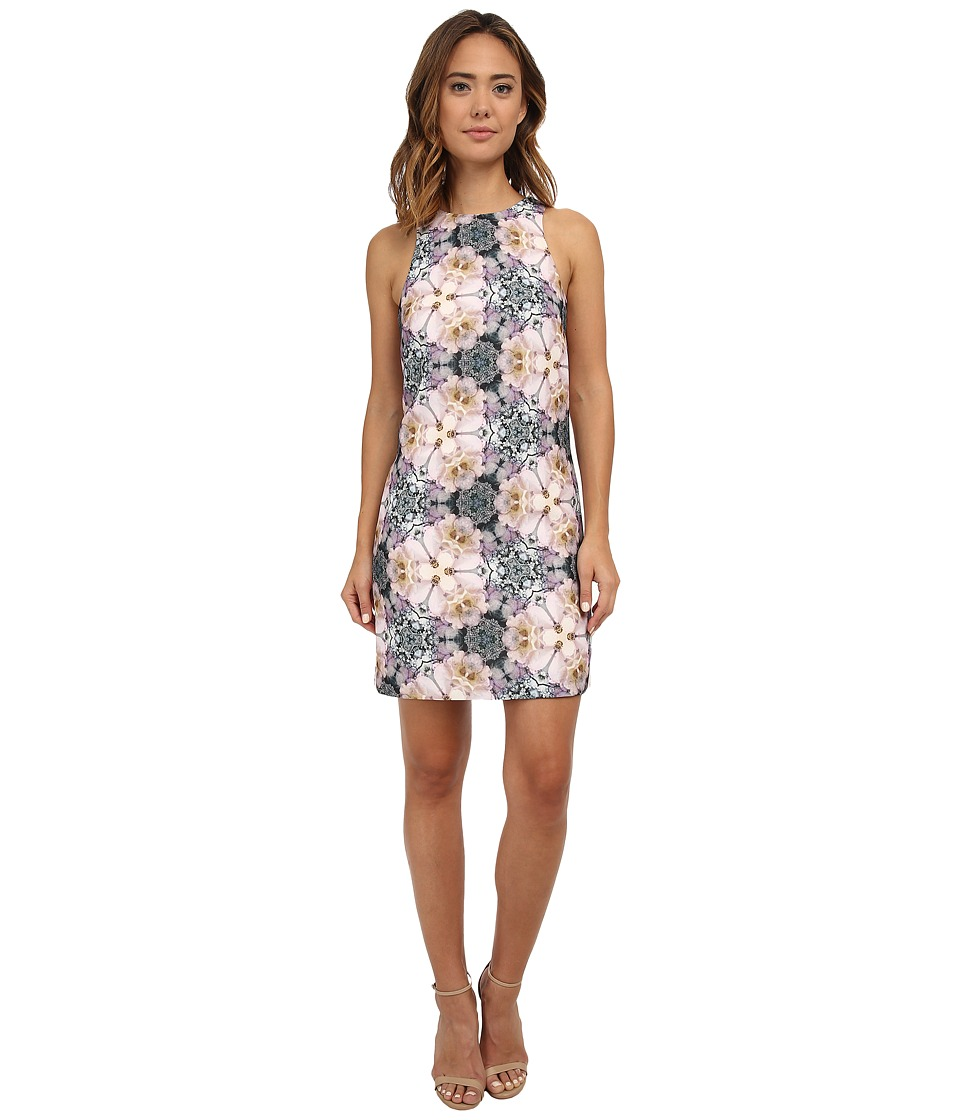 Ted Baker - Floral Geo Print Shift Dress (Pale Pink) Women's Dress