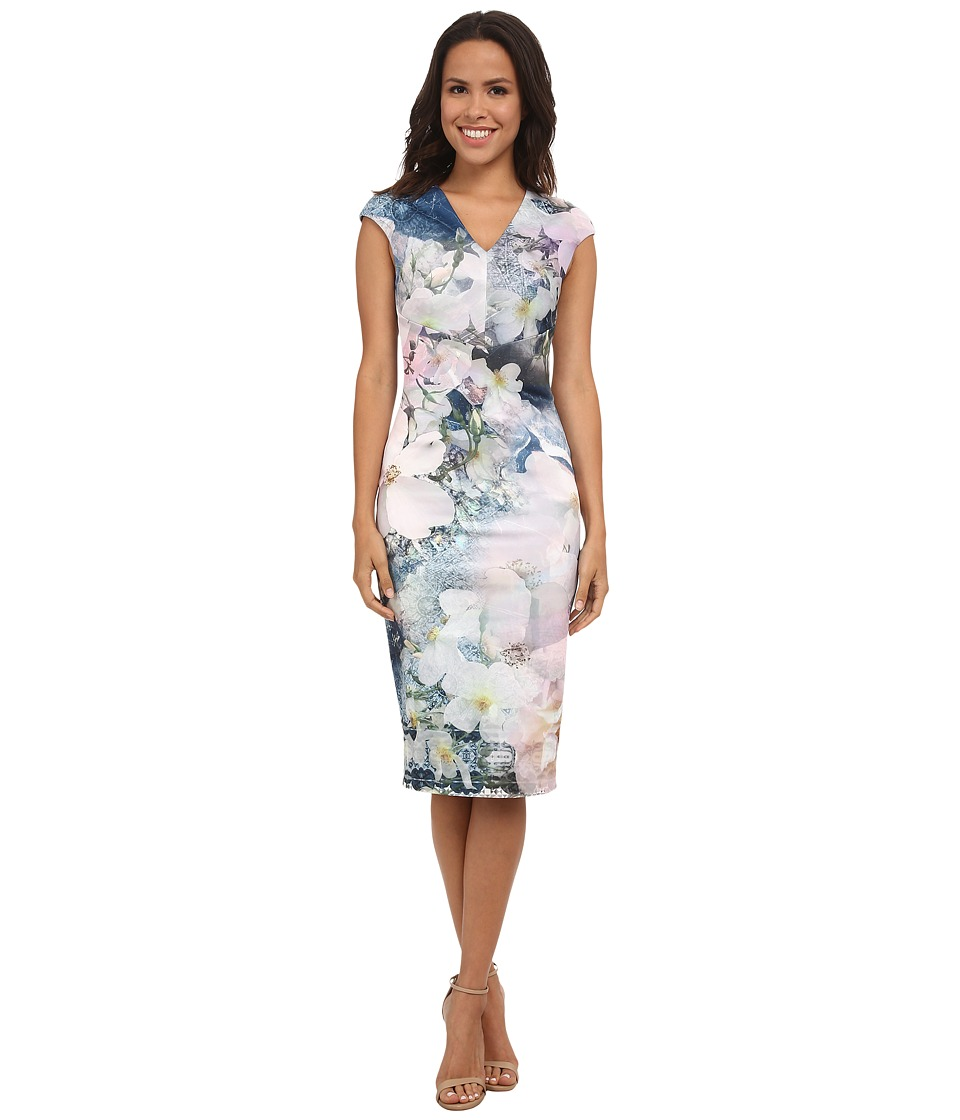 Ted Baker - Floral Geo Bodycon Dress (Navy) Women's Dress