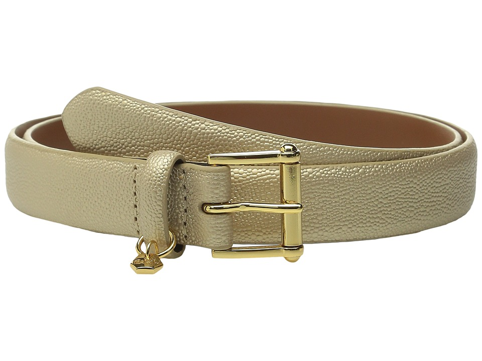LAUREN Ralph Lauren - Classics 1 Faux Stingray Endbar (Gold Rush) Women's Belts