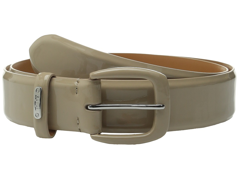 LAUREN Ralph Lauren - Classics 1 3/8 Smooth Patent Belt (Porcini) Women's Belts