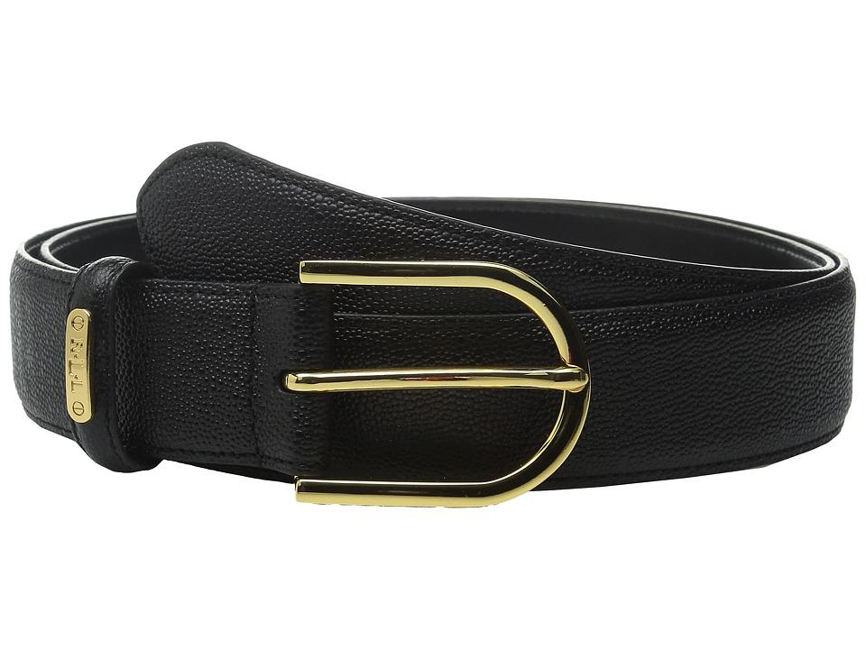 LAUREN Ralph Lauren - Classics 1 3/8 Faux Stingray Belt w/ Sculpted Endbar (Black) Women's Belts