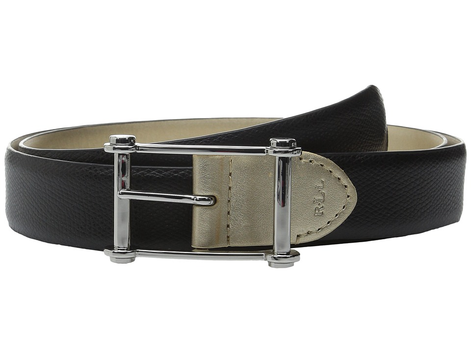 LAUREN Ralph Lauren - 1 1/4 Reversible Whitby w/ Centerbar (Black/Gold) Women's Belts