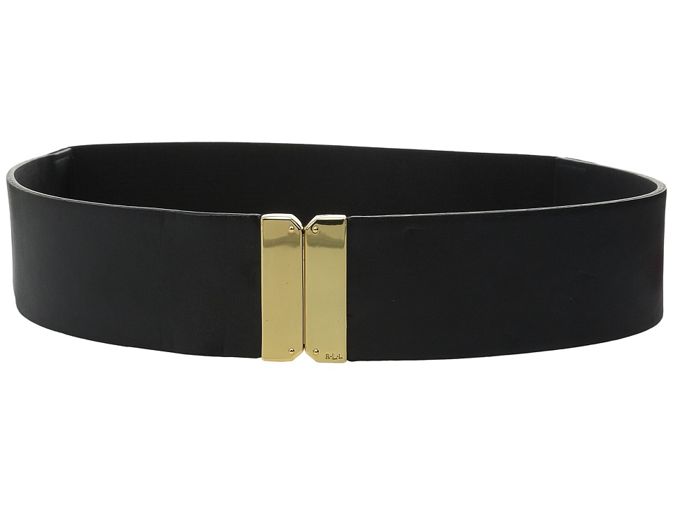 LAUREN Ralph Lauren - 2 Guilford Stretch w/ Smooth Tabs (Black) Women's Belts