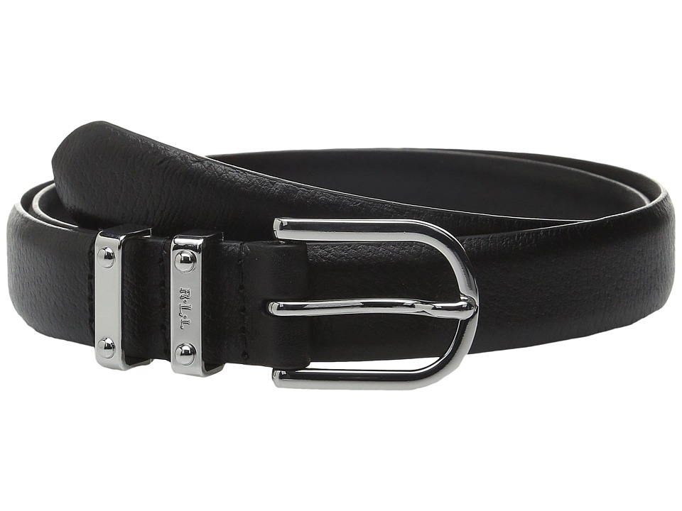 LAUREN Ralph Lauren - Classics 1 Embossed Leather w/ Double Metal Keeper (Black) Women's Belts
