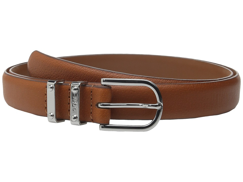 LAUREN Ralph Lauren - Classics 1 Embossed Leather w/ Double Metal Keeper (Lauren Tan) Women's Belts