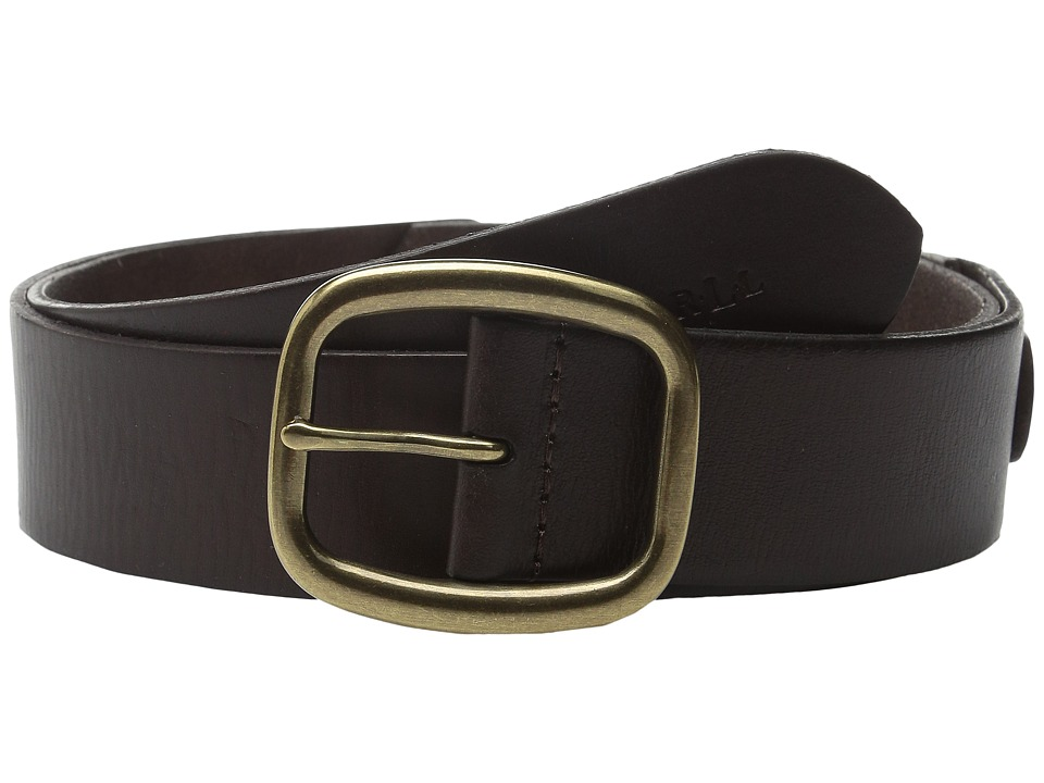 LAUREN Ralph Lauren - 1 1/2 Simple Centerbar Jeans Belt (Dark Brown) Women's Belts