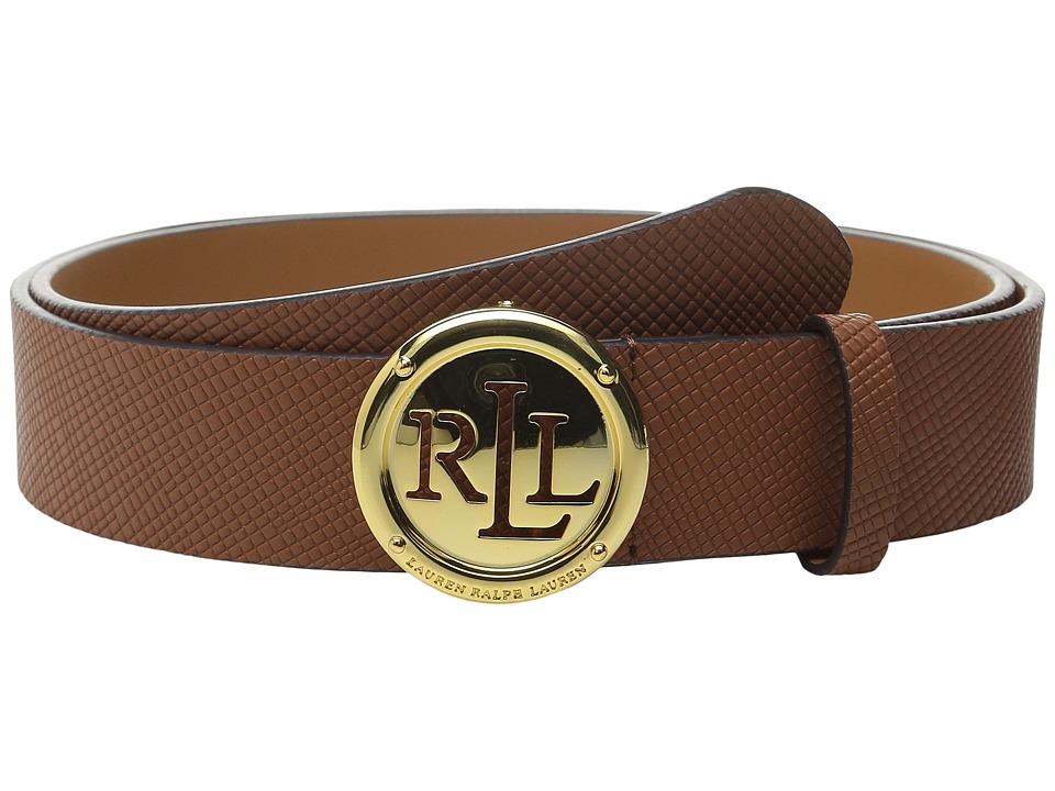 LAUREN Ralph Lauren - Charleston 1 1/4 Saffiano w/ Roll Plaque (Lauren Tan) Women's Belts