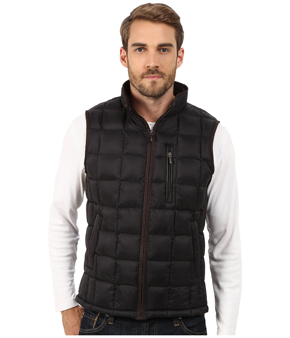 Rainforest - Quilted Vest w/ ThermoLuxe Insulation (Black 1) Men's Vest