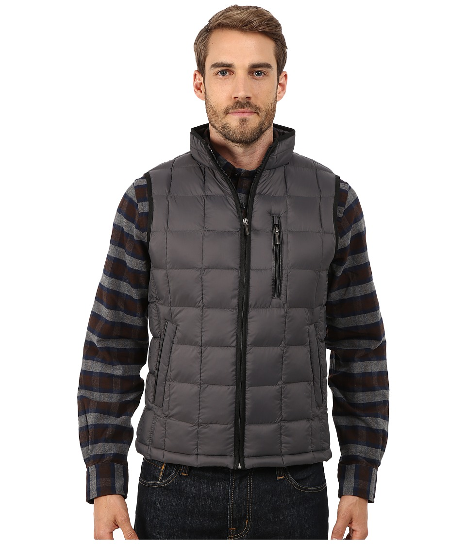 Rainforest - Quilted Vest w/ ThermoLuxe Insulation (Graphite) Men's Vest
