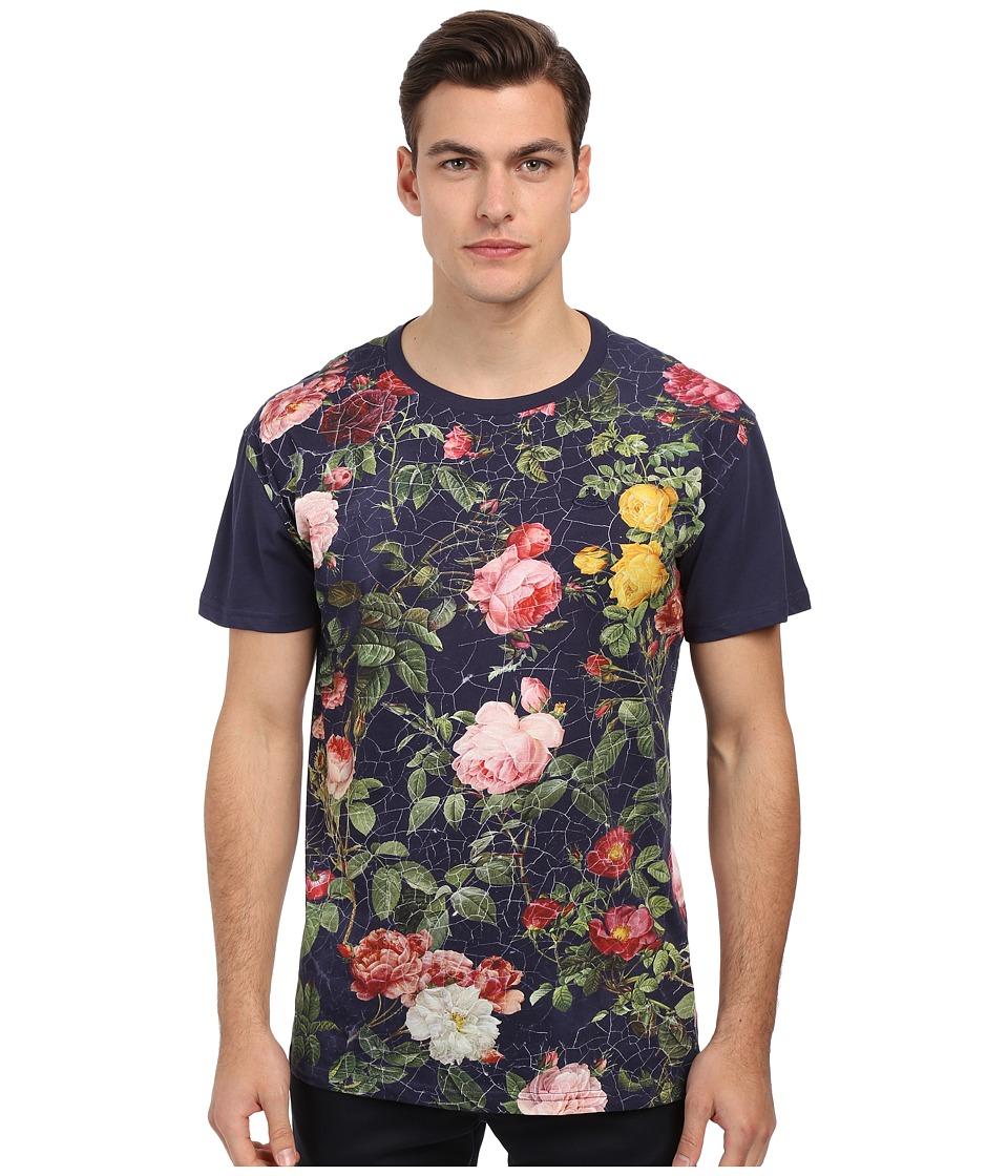 Vivienne Westwood - Jersey Porcelain Roses Tee (Navy) Men's T Shirt