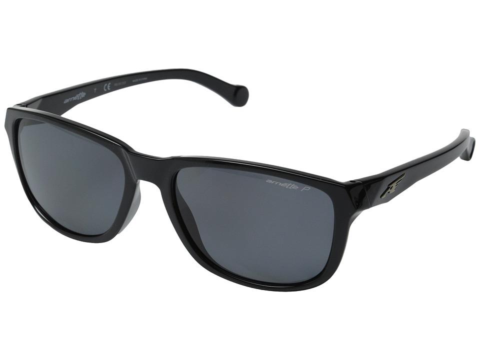 Arnette - Straight Cut (Black/Grey Polarized) Sport Sunglasses