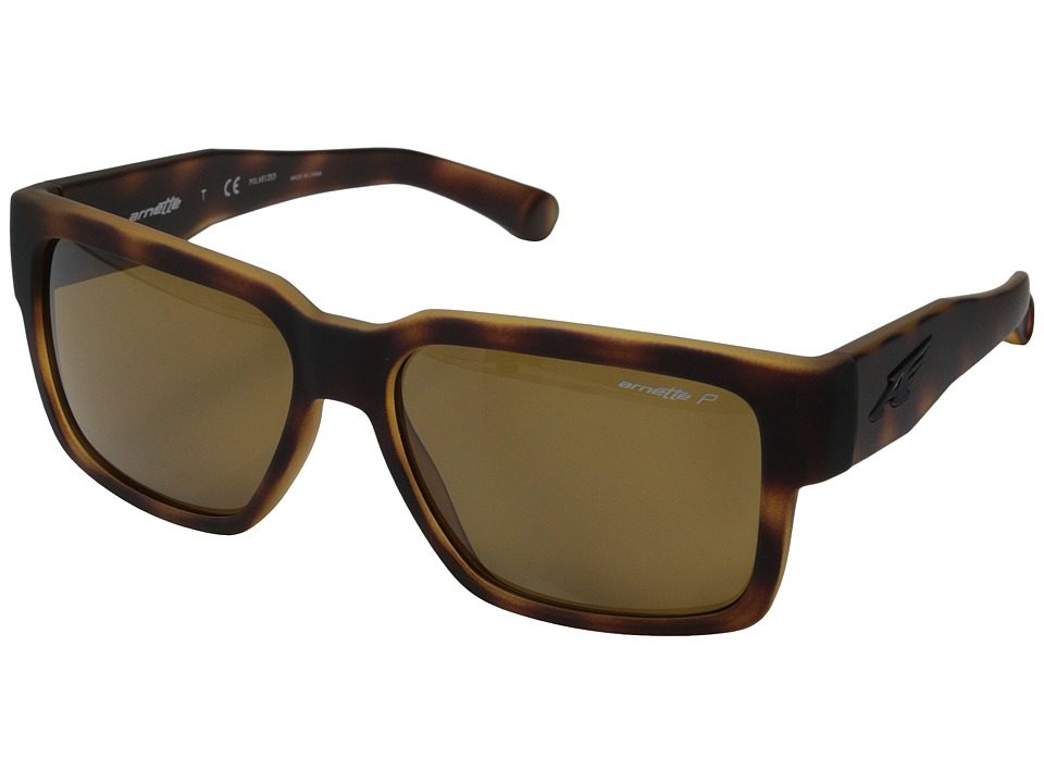 Arnette - Supplier (Fuzzy Havana/Brown Polarized) Sport Sunglasses