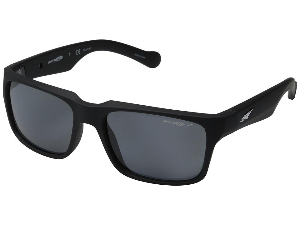 Arnette - D Street (Fuzzy Black/Fuzzy Havana/Grey Polarized) Sport Sunglasses