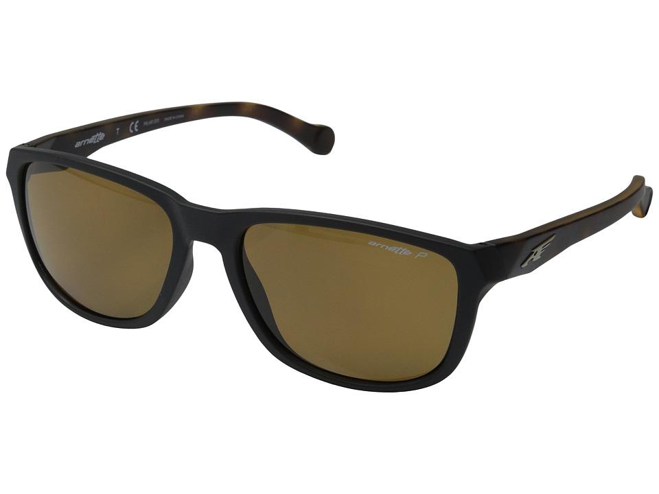 Arnette - Straight Cut (Matte Black/Havana/Brown Polarized) Sport Sunglasses