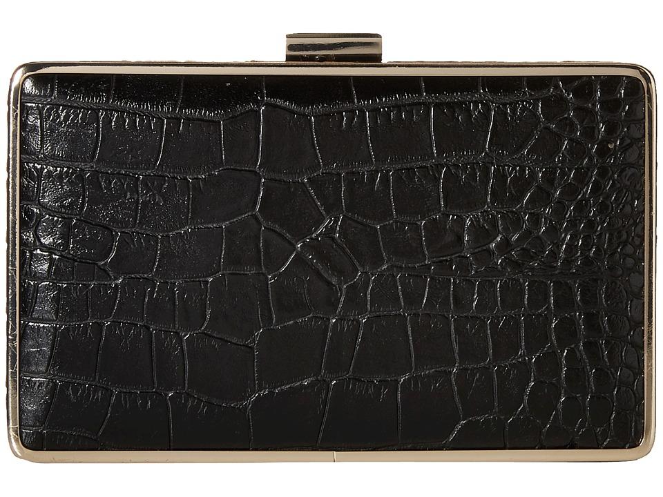 Jessica McClintock - Ella Clutch (Black) Clutch Handbags