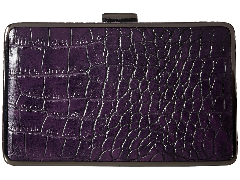 Jessica McClintock - Ella Clutch (Purple) Clutch Handbags