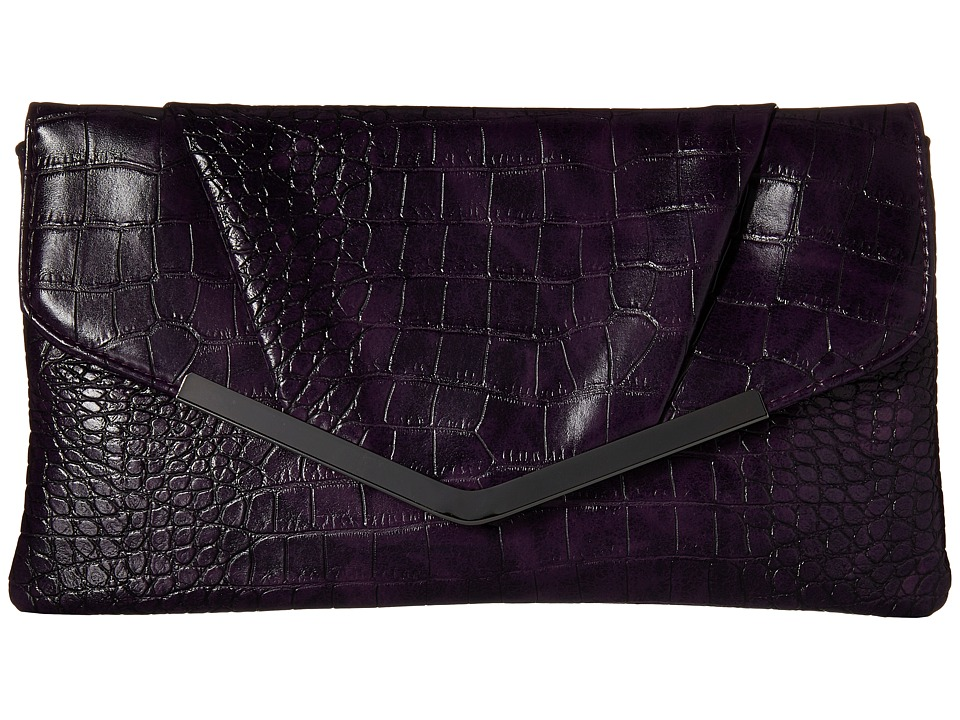 Jessica McClintock - Arielle Clutch (Purple) Clutch Handbags