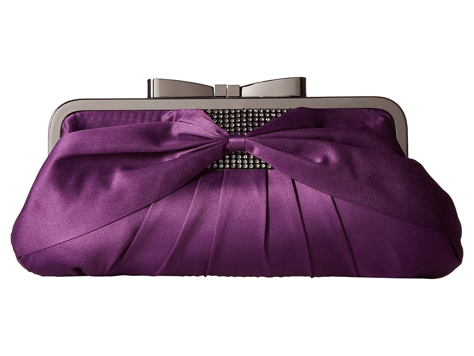 Jessica McClintock - Arianna Clutch (Purple) Clutch Handbags