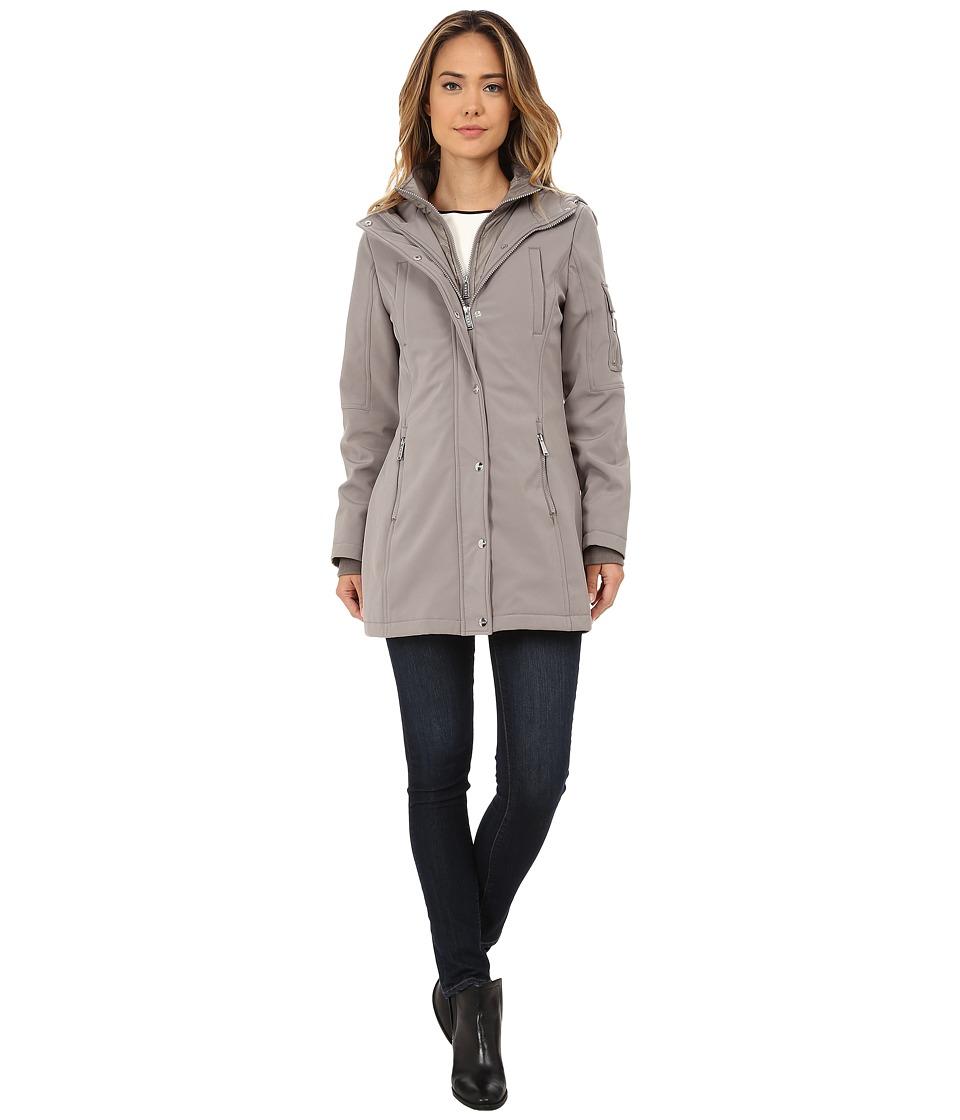 DKNY - Parka with Inner Bib Zipper Details (Peat) Women's Coat