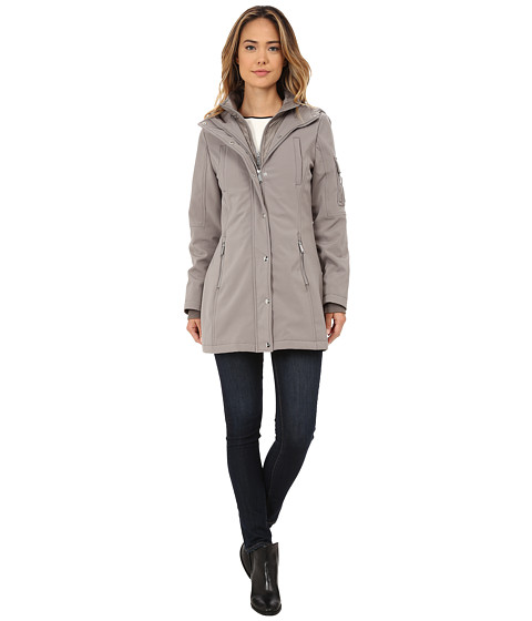 DKNY - Parka with Inner Bib Zipper Details (Peat) Women