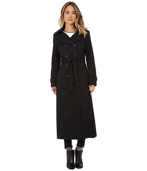 DKNY - Long Maxi Rain Coat 06743X-Y4 (Black) Women's Coat