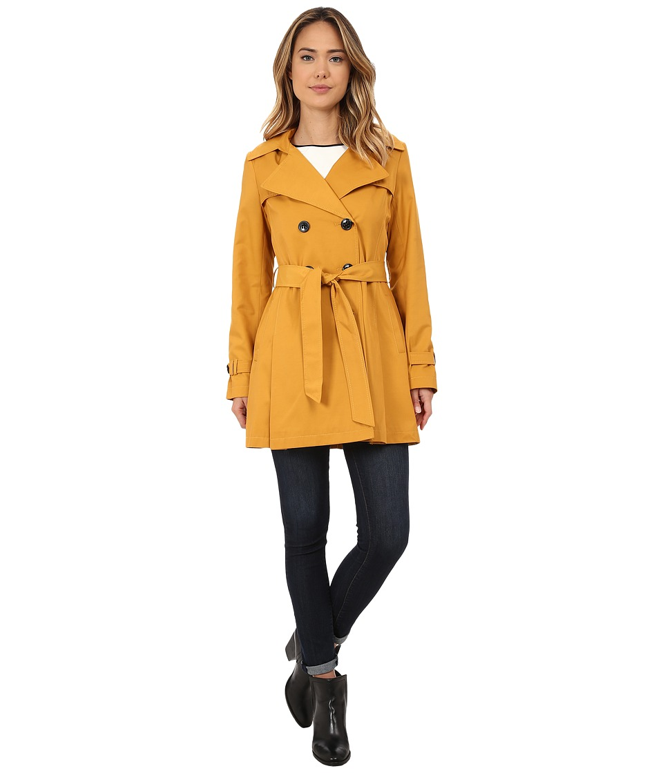 DKNY - Double Breasted Notch with Front Shield and Hood (Taxi) Women's Coat