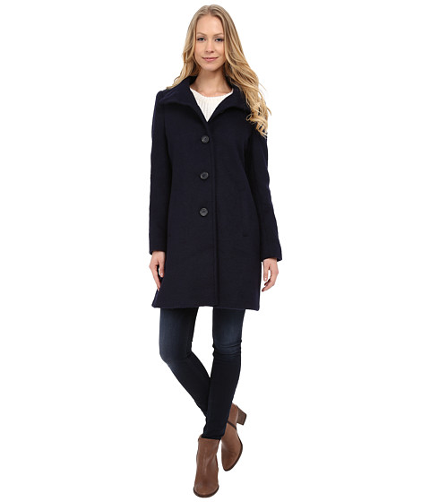 DKNY - Mohair Walker (Navy) Women's Coat