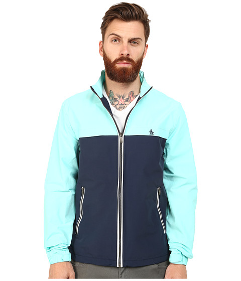 Original Penguin - Color Block Ratner Windbreaker (Dress Blues) Men