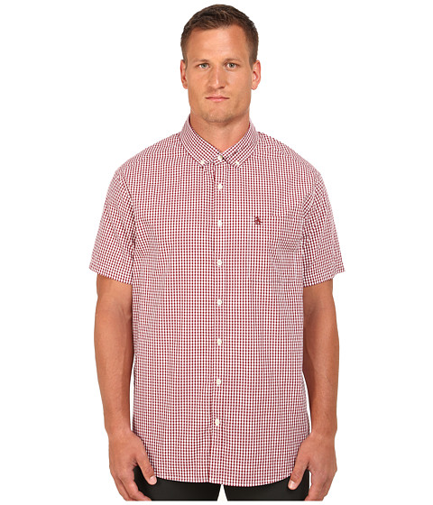 Original Penguin - Big Tall Short Sleeve Gingham (Biking Red) Men's Short Sleeve Button Up